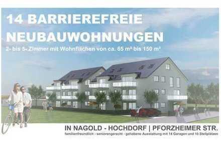 Wohnung - Nagold-Hochdorf mit Balkon, Garage - in sonniger und ruhiger Lage