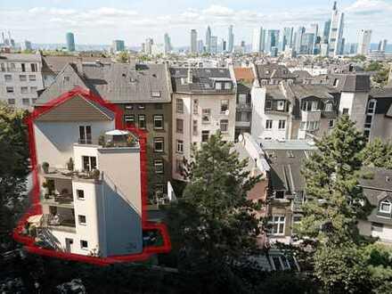 NEUBAU IM HERZEN FRANKFURTS: Projektierte Ergeschosswohnung mit 2 Gartenterrassen in Sachsenhausen!