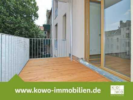NEUBAU: Toll gelegene 4-Zimmer-Wohnung mit Echtholzparkett und zwei Balkonen in Leipzig-Lindenau