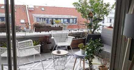 Penthouse-Wohnung mit Blick über die Dächer von Bad Aibling
