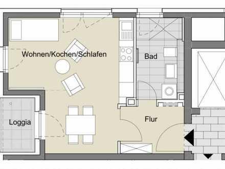 Geschmackvolle und geräumige Wohnung mit einem Zimmer sowie Balkon und Einbauküche in Tübingen