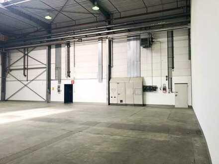 Modernisierte Halle | Zwei Zu-/Abfahrten für Schwerlastverkehr | ebenerdige Andienung