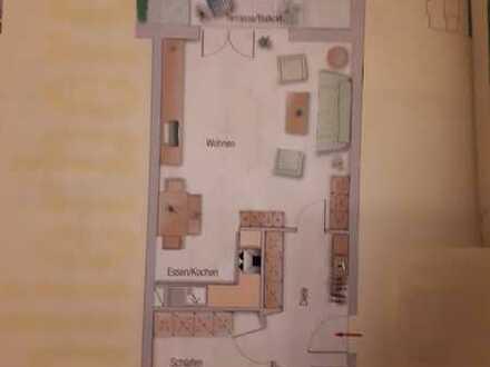 Helle 2 Zi-Wohnung mit Balkon und Einbauküche in Freiburg Merzhausen