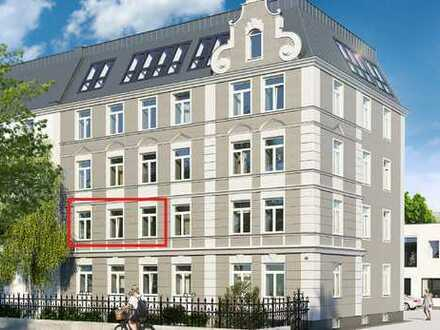 Exklusive 2,5-Zimmer-Altbau-Wohnung im Bismarckviertel Augsburg (EBZ nach San.) mit EBK und Balkon