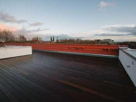 Mit Blick über Bremen von der eigenen Terrasse