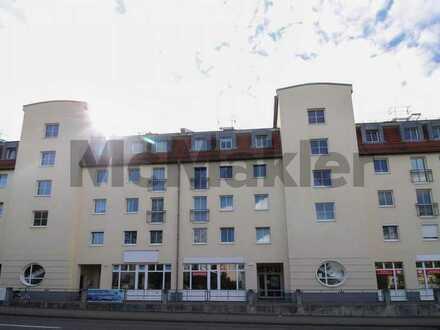Gute Kapitalanlage: Vermietete 1-Zi.-Wohnung mit Tiefgaragenstellplatz in zentraler Lage von Mölkau