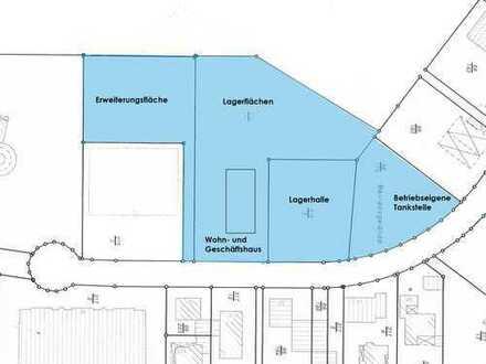 Wohn- und Gewerbeimmobilie mit Lagerhalle, Lagerflächen, Betriebstankstelle und Erweiterungsflächen