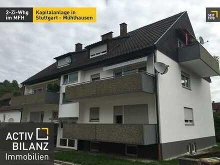 Provisionsfreie Kapitalanlage: 2 Zi.-Whg. in Stuttgart Mühlhausen