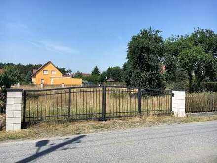 Klein aber fein - Bauplatz in ländl. Umfeld von Dresden