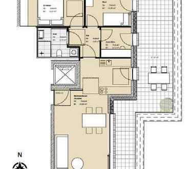 Erstbezug: schöne 3,5-Zimmer-Penthouse-Wohnung mit großer Dachterrassein in Pasing, München