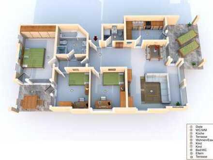 Schöne 4 Zimmer Wohnung im EG mit Terrasse im Wohngebiet Reutenen