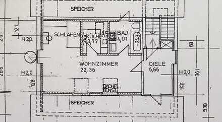 Dachau nähe Altstadtberg 5 Fußmin z.Stadtbahnhof,helle,schöne 1,5 Zimmer Wohnung, im 3 Fam-Haus,