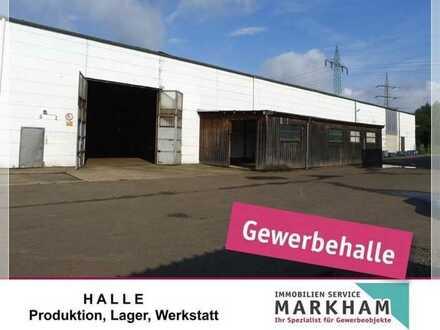 Halle-, Produktion-, Lagerflächen zu vermieten