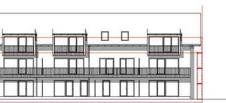 Erstbezug 3-Zimmer-Wohnung mit Balkon