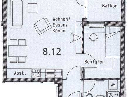1,5 Zimmer, EBK, möbliertes Bad, Balkon - Wohnpark 'Am Brühl'