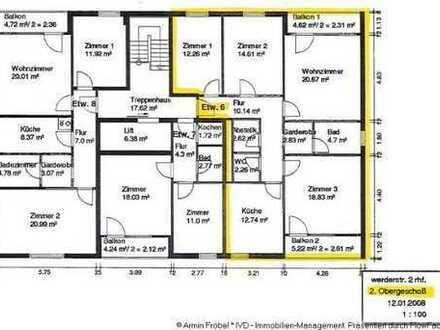 4-Zimmer-Wohnung mit 2 Balkonen und Tiefgaragen-Stellplatz in Rheinfelden/Stadtzentrum