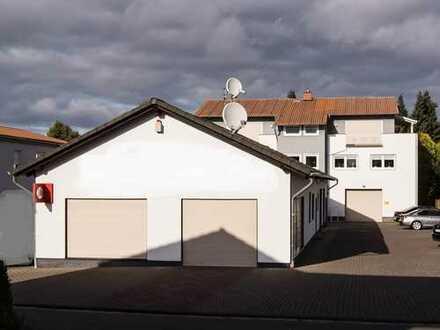 Modernes Büro-Geschäftsgebäude mit separater Geschäfts- und Lagerhalle in Mücke komplett vermietet !