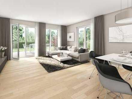 E&Co. - Neubau einer modernen und hochwertigen 3 Zimmer Wohnung plus 2 Hobbyräumen mit Privatgarten.