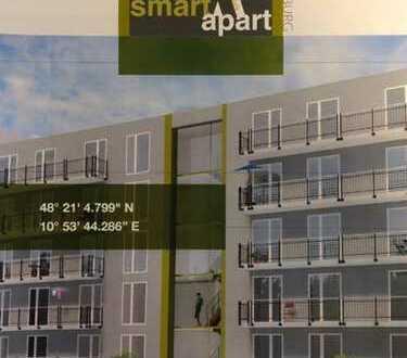 1-Zimmer-Studentenapartment (vollmöbliert) mit Balkon und Einbauküche in Augsburg Uninähe