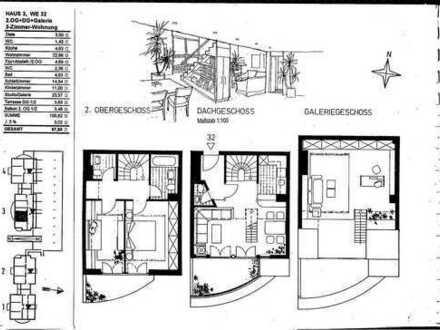 3 Zimmerwohnung + Dachgaleri- wie ein kleines Einfamilienhaus im Mehrfamilienhaus Chemintz/Siegmar