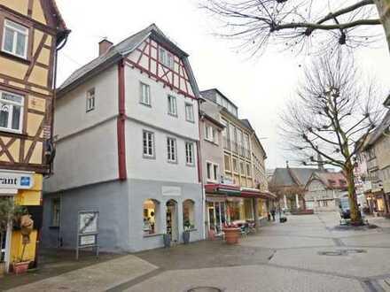 Ladengeschäft in Bensheims malerischer Fußgängerzone