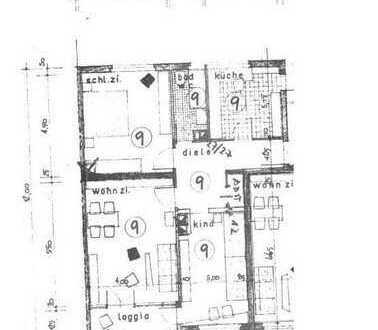 Stilvolle, gepflegte 3-Zimmer-Wohnung mit Balkon in zentraler Lage (Gartenstraße)