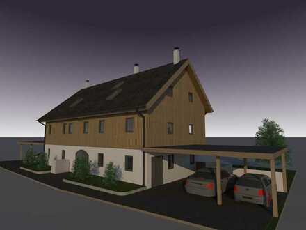 Neubau im beliebten 5-Seenland: Charmantes Reiheneckhaus aus Vollholz