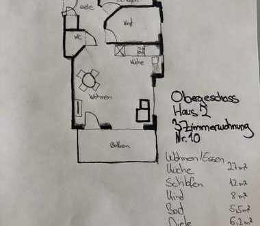 Möblierte 3-Zimmer Wohnung in Musberg (Leinfelden-Echterdingen) mit Balkon