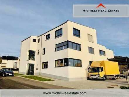 Neuwertige und repräsentative Wohn-Gewerbeimmobilie: Halle/Produktion/Büro und Wohnung