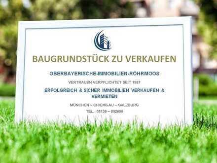 AICHACH - Gachenbach / Schönes BAUGRUNDSTÜCK mit guter Bebauung in ruhiger, sonniger Lage