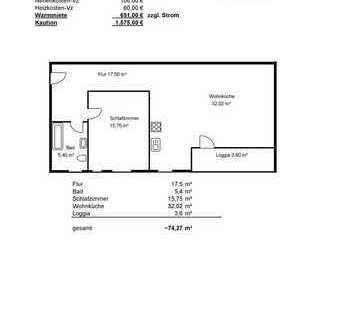 Geräumige 2-Zimmer Wohnung mit EBK