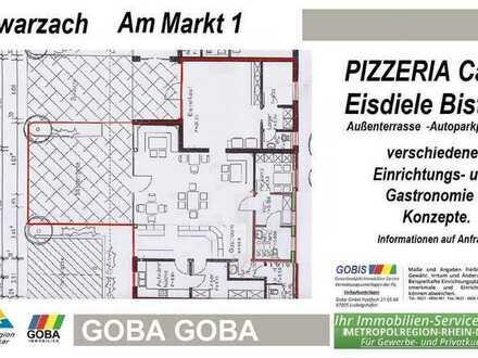 Schwarzach - 2019 - Pizzeria Café Bistro Eisdiele mit Einrichtung