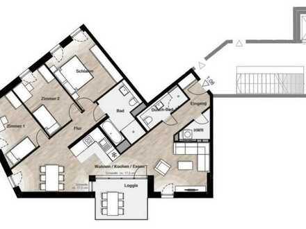Die perfekte Familienwohnung! Barrierefreie 4-Zimmer mit Loggia im Carlina Park am Maxfeld