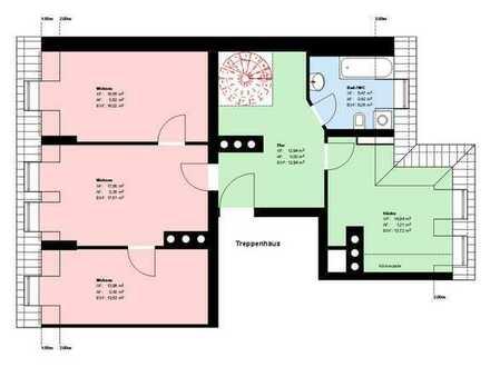 *4 Zimmer-Maisonette*Wohnküche mit EBK*möbliert*Bad mit Wanne und Fenster*Keller*Parkett*