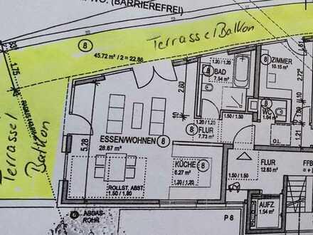 Erstbezug mit Einbauküche und Dachterrasse: ansprechende 3-Zimmer-Penthouse-Wohnung in Nagold