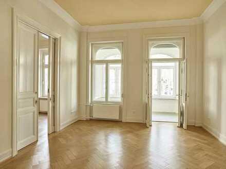 Büro oder Praxis in repräsentativer 3-Zimmer-Stilaltbauwohnung, Wiesbaden