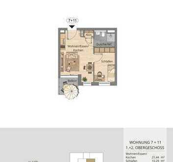 Traumhafte 2-Zimmer-Wohnung im 2.Obergeschoss mit Balkon (Whg. 11)