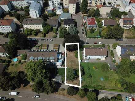Baugrundstück 693qm in Rastatt Zentrum mit unverbaubarem Blick auf die Murg