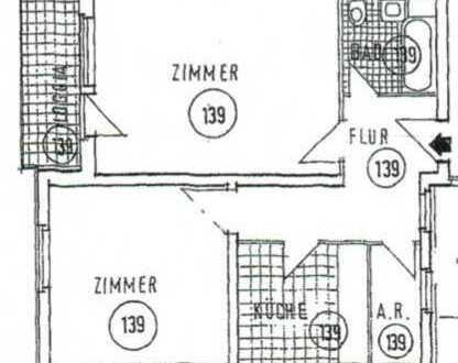Renovierte 2-Zimmer-Wohnung mit Balkon in Bremen Alt-Osterholz