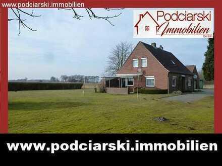 Idyllische ländliche Lage! Landhaus mit Weidefläche und die Brise Nordseeluft gibt es gratis...