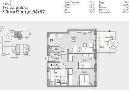 Erstbezug / Moderne 3-Zimmer-Neubauwohnung in Buchenbach