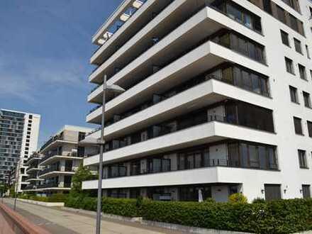 Überseestadt-schöne 3 Zimmer Wohnung im 6.Stock mit Fahrstuhl, Weserblick und Balkon!