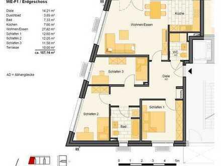 Freundliche 4-Zimmer-EG-Wohnung mit EBK und Balkon in 51147, Köln