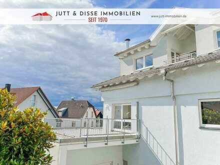 Wohnen wie im eigenen Haus mit 5 Zimmern, 3 Terrassen und Doppelgarage in guter Lage von Kuppenheim