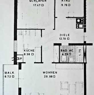 3-Zimmerwohnung im 3.OG/DG in Haltingen