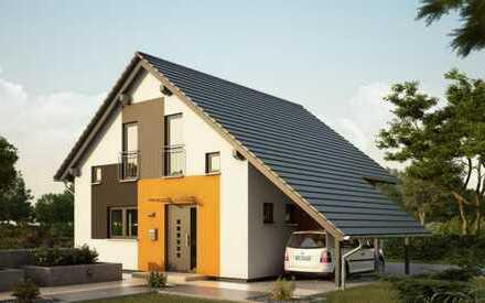 Haus mit Carport und Grundstück