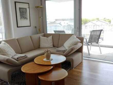 Voll möblierte, schöne3-Zimmer-Wohnung mit Balkon und Einbauküche in Ulm