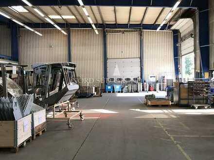 Halle zur industriellen Fertigung. Ca. 1000 m² mit Büro.