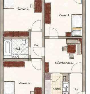 Vermietete 3-Zimmer-Wohnung in Erlangen - Paul-Gossen-Straße