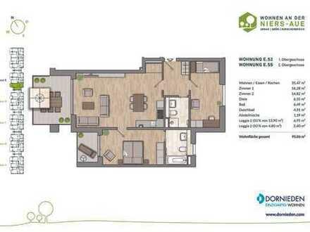 Einzigartig wohnen! Moderne 3-Zimmer-Wohnung mit 2 Bädern und 2 Balkonen